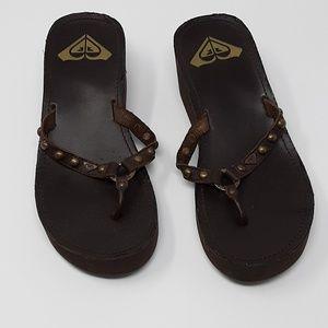 Roxy 🌊 Platform Wedge Flip Flop Shoes Women 8